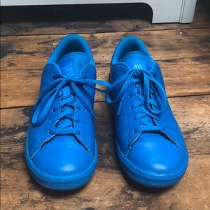Blue Nike Leather Sneakers